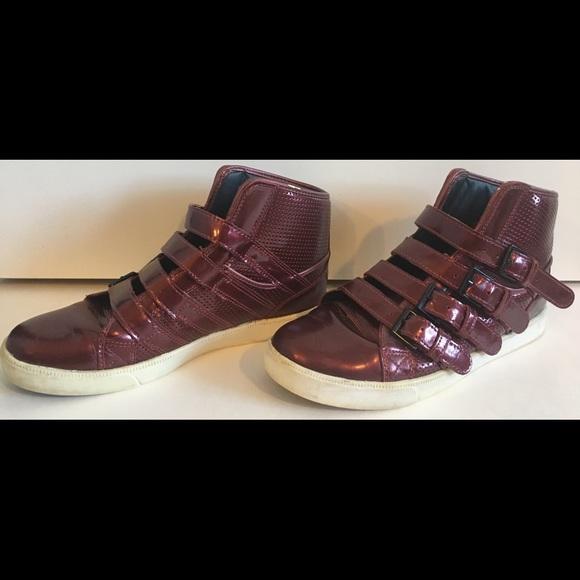 681ce9acebcd SUPRA by STEVE AOKI Burgundy Buckle Sneakers RARE.  M 5c69a974c9bf508c9f833870